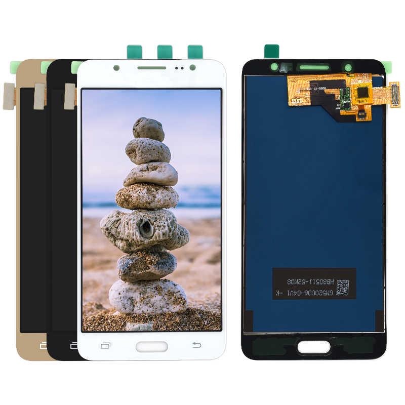10 قطعة من شاشات lcd لسامسونج غالاكسي j5 2016 J510 SM-J510FN J510F J510G J510Y J510M شاشة الكريستال السائل + مجموعة المحولات الرقمية لشاشة تعمل بلمس