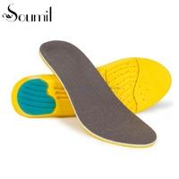 Soumit PU Gel Foam Breathable Insole Shock Absorption Sweat Absorbent Sport Shoes Insoles Footbeds Plantillas
