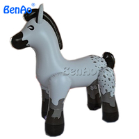 AC012 BENAO Custom giant white inflatable horse for advertising/PVC Inflatable Small Horse,Cute Inflatable Animal Cartoon Toys