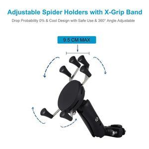 Image 4 - Универсальный держатель для телефона для велосипеда, мотоцикла, MTB, с регулируемой рейкой, X Grip, для iPhone, Samsung, GPS