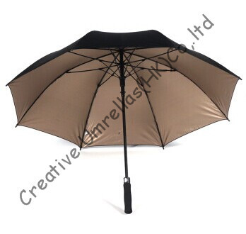 Us 39 05 29 Off Straight Car Golf Umbrellas Fiberglass Shaft And Ribs Auto Open Windproof Pongee Fabric Golf Uv Protecting Sunscreen In Umbrellas