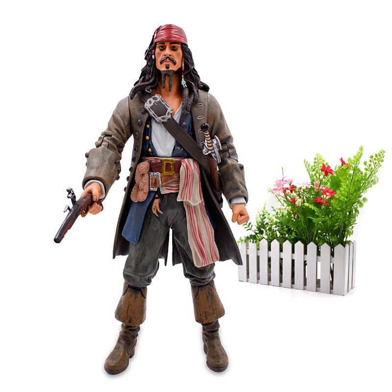 """Image 2 - 12""""30 cm Pirates Of The Caribbean Captain Jack Sparrow Jackie PVC Action Figure Articular Movable Collectible Model ToysAction & Toy Figures   -"""