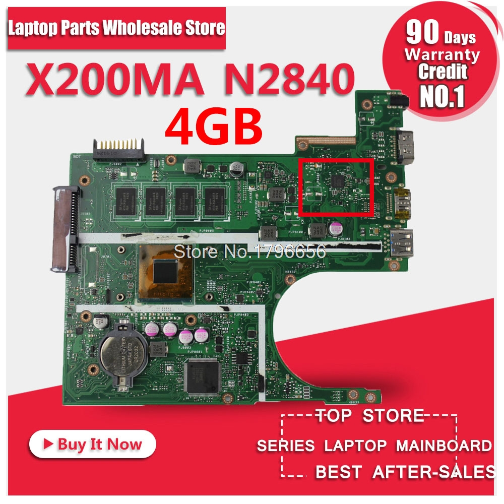 Original laptop Laptop motherboard FOR ASUS K200MA F200MA X200MA mainboard With N2840 CPU 4G Integrated fully test free shipping original laptop laptop motherboard for asus x200ma k200ma f200ma mainboard with n2815 cpu integrated fully test