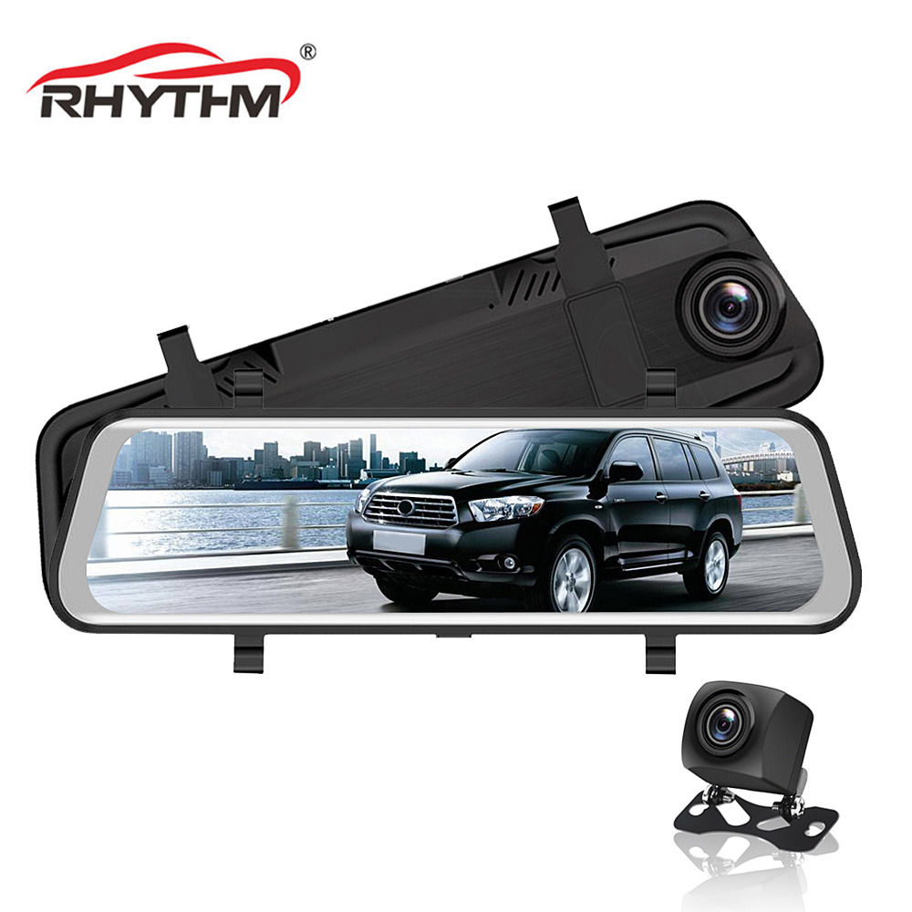 <font><b>2019</b></font> 9.66 inch car rearview <font><b>mirror</b></font> Car Dvr full HD 1080p car driving video recorder camera car reverse image dual lens <font><b>dash</b></font> <font><b>cam</b></font> image