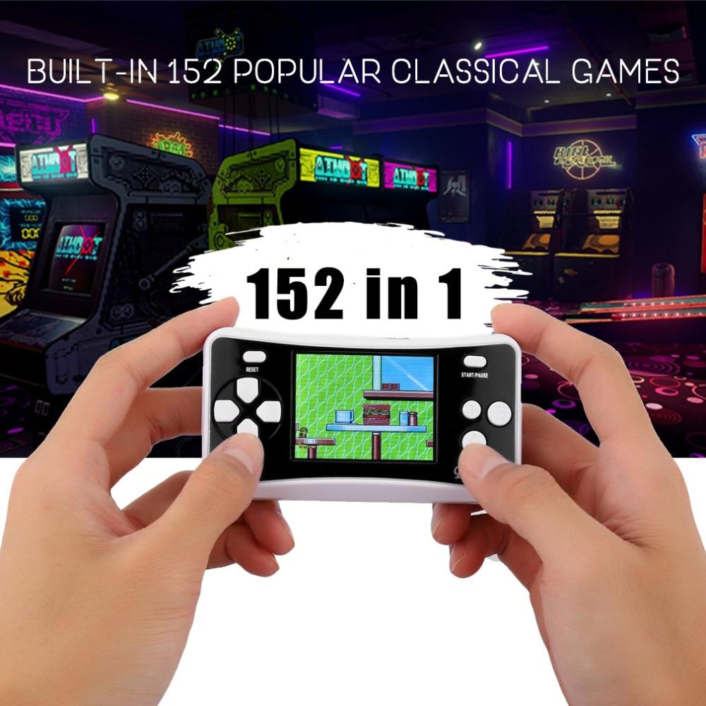 Arcade Classics Handheld Games Consoles Portable 2.5 LCD 8-Bit 152 in 1 Retro Mini Electronics Novel