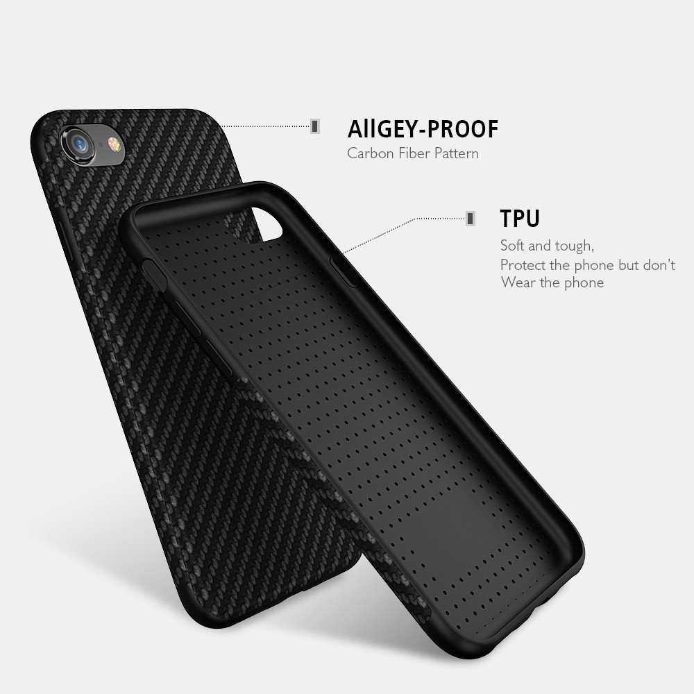 huge selection of a3f0b 55055 US $4.49 10% OFF|FLOVEME Carbon Fiber Case For iPhone X 7 6 6S Plus XS Max  XR 5S Phone Cases Twill Silicon Cover For iPhone 6 6s 8 7 Plus Shells-in ...