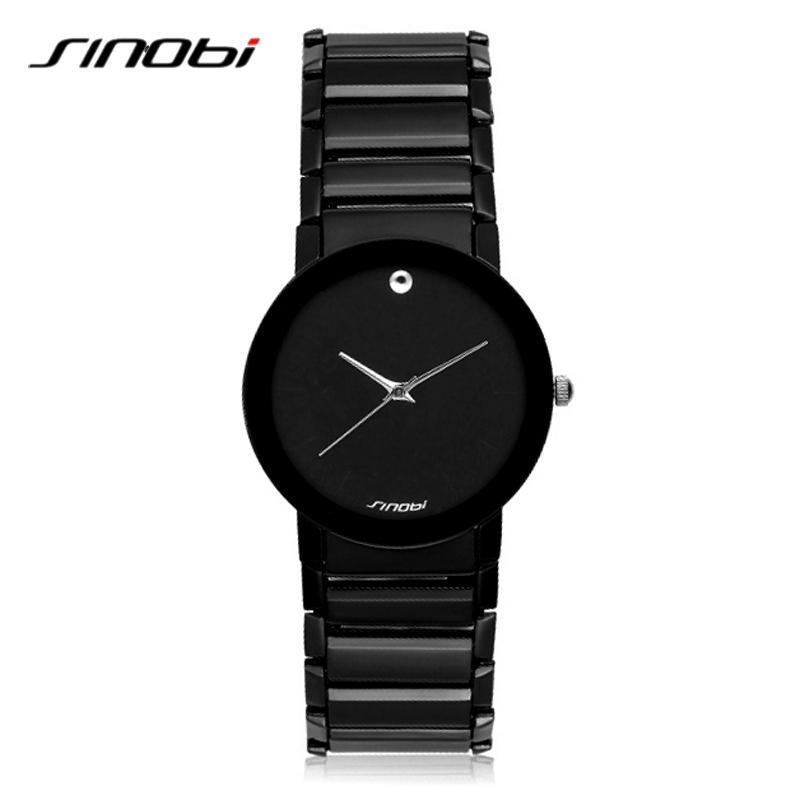 Prix pour Casual Femmes Black Watch Quartz-Montre Dame Célèbre Robe Montre Bracelet-Bracelet Femme Mode Marque Relogio Feminino SINOBI 9106
