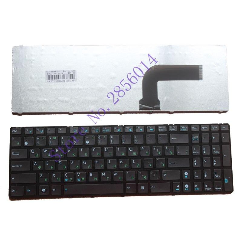 Teclado ruso para la ASUS K52J N50 K52 A53 G60 N73 F50 N61 G72 G51 N71 N53 F50N F50Q F50S. con frontera teclado de ordenador portátil negro