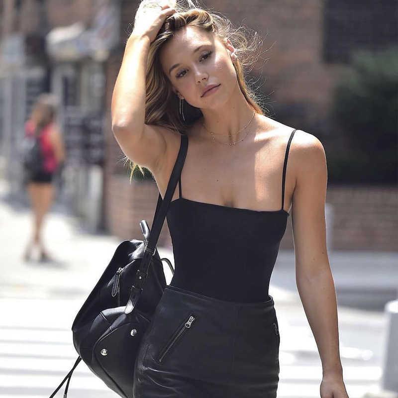 2017 летний черный комбинезон белый женский сексуальный цельный костюм комбинезон женский Повседневный Боди без рукавов комбинезон уличная одежда