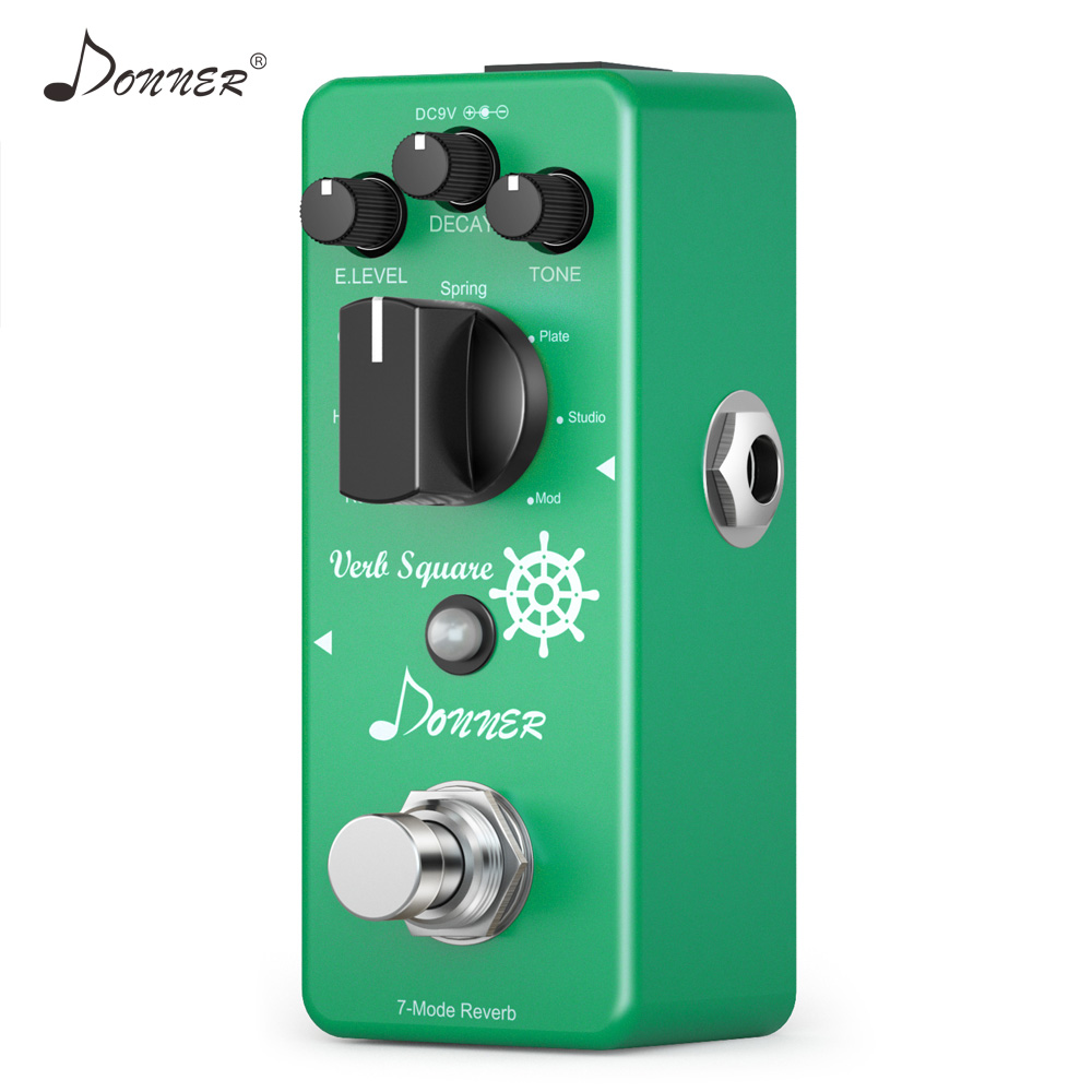 Donner Reverb Pedal 7 Modes Reverberation Guitar Effect Pedals Digital Circuit Design True Bypass Guitar Parts