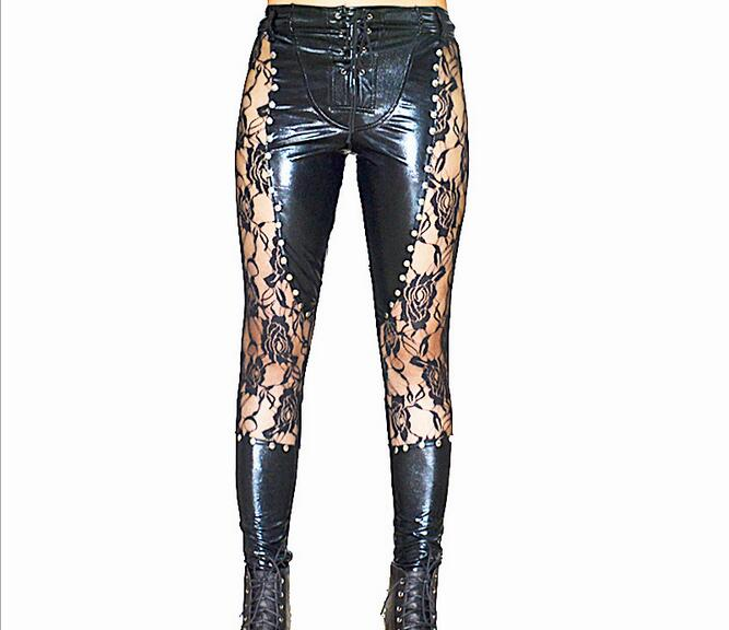 Sexy Pvc Leather Lingerie Hot Latex Lingerie Sexy leather pants font b leggings b font Sexy