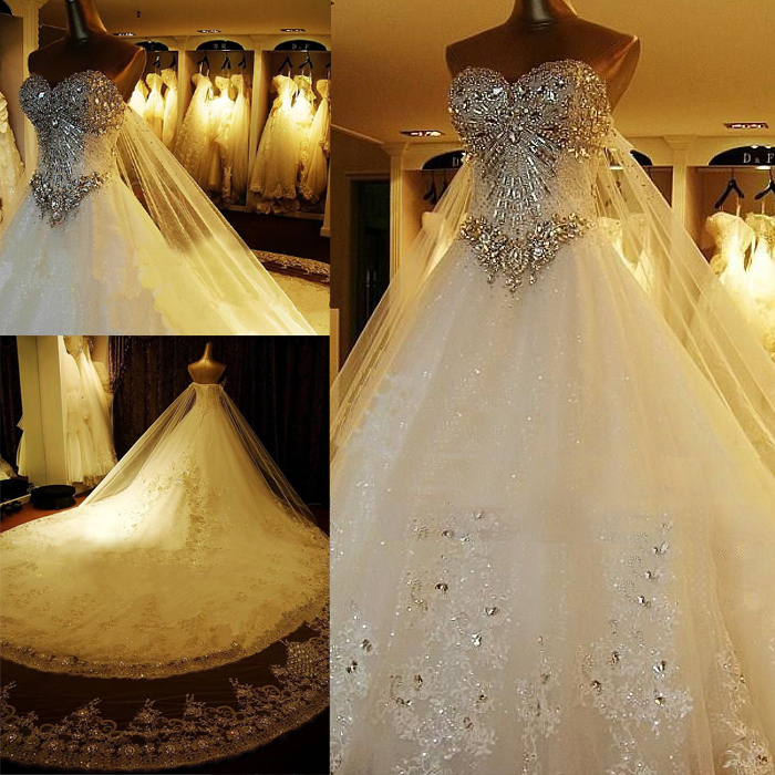 white princess diamond wedding dresses. beautiful strapless white ...