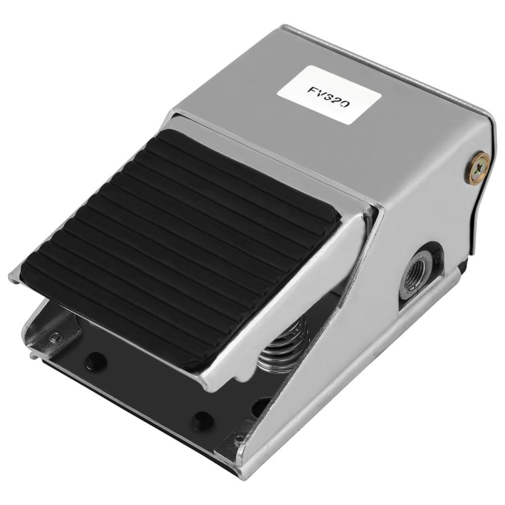 Ventil Sanitär 3 Weg 2 Position Fuß Drücken Steuer G1/4 Gewinde Air Pneumatische Pedal Ventil Schalter