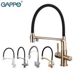 Кухонный смеситель GAPPO, смеситель хромированный для раковины из латуни, с фильтрующим водопроводным краном