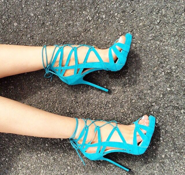 ФОТО Shlny blue high heel platform sandals ankle strap open toe super high thin heels cross-tied women party&casual shoes sky-blue