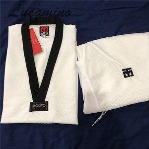 Image 1 - Süper hafif Taekwondo Dobok Mooto Taekwondo eğitmen giyen yüksek hızlı kuru Ultra hafif eğitim üniforma nefes üniformaları