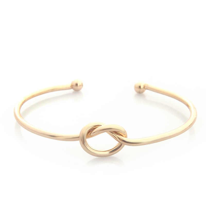 SL231 קשר קאף צמידים & צמידי אופנה פתוח צמיד נשים צמיד Pulseiras Pulseira Feminin חג אהבת אהבת מתנה