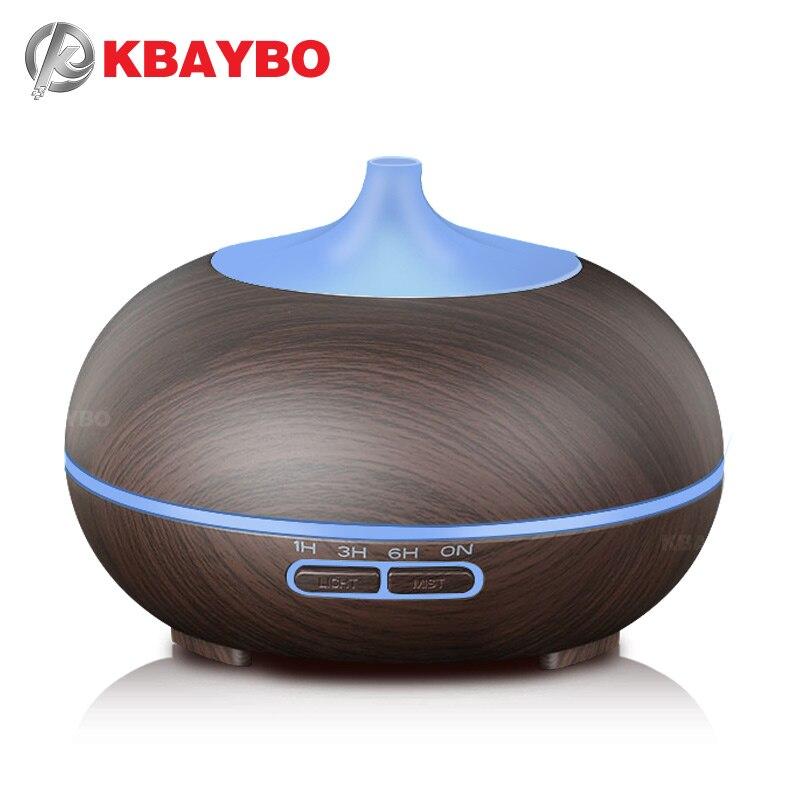 KBAYBO 300 ml Aroma Diffuseur Aromathérapie Bois Grain Huile Essentielle Diffuseur Humidificateur À Ultrasons