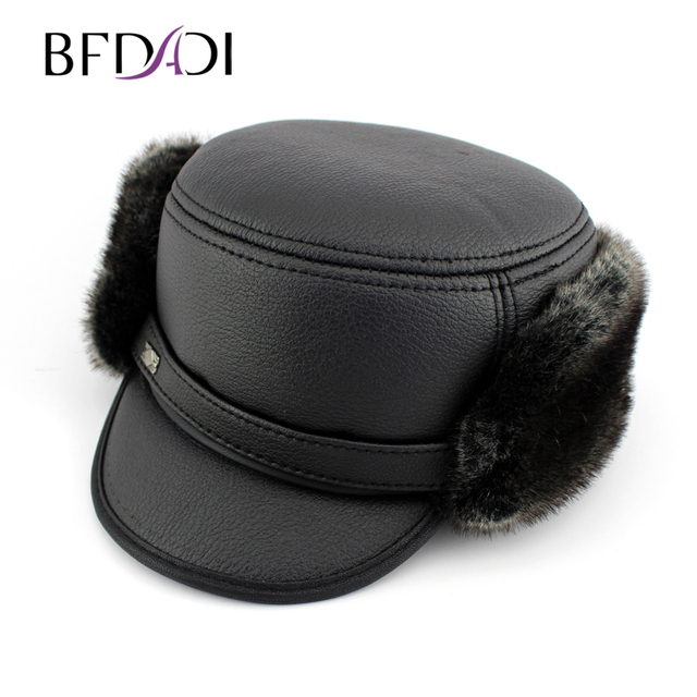 0a976b0058e BFDADI Winter hat 2018 new ear protector cap bomber Hats for men windproof  Russian old man hats warm hat Free Shipping
