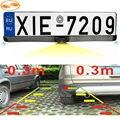 GreenYi России Европейский Автомобиль Номерного знака Рамка с Камерой Заднего Вида и 2 Радар Датчики Парковки Система Комплекты