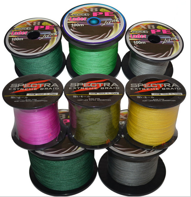 5pcs a lot Super Strong 300m Multifilament PE Spectra Extreme Braided Fishing Line 10 20 30 40 50 60 80 LB braided Fishing Line