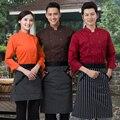 Поваров кухонная цветов высокого качества униформа повар великобритании одежда женский шеф-повара ресторана одежды дамы chefwear бесплатная доставка