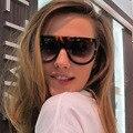 Gafas De las gafas diseñador powder Gredient estrenar mujer ojo De gato gafas De Sol Retro Vintage recubrimiento