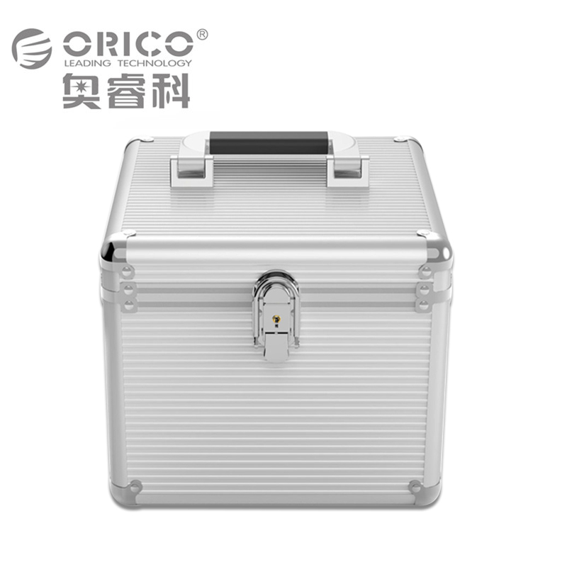 Orico Silver BSC35 Aluminum Hard Disk Drive Protection Box support 10pcs 3.5inch HDD with Locking orico phx 35 3 5 hdd protection box hard disk drive protecter case purpled