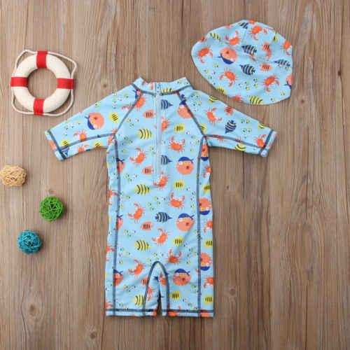 الأطفال طفل بنين بنات مطبوعة طفح الحرس الشمس واقية الأمواج شاطئ السباحة السباحة كاب