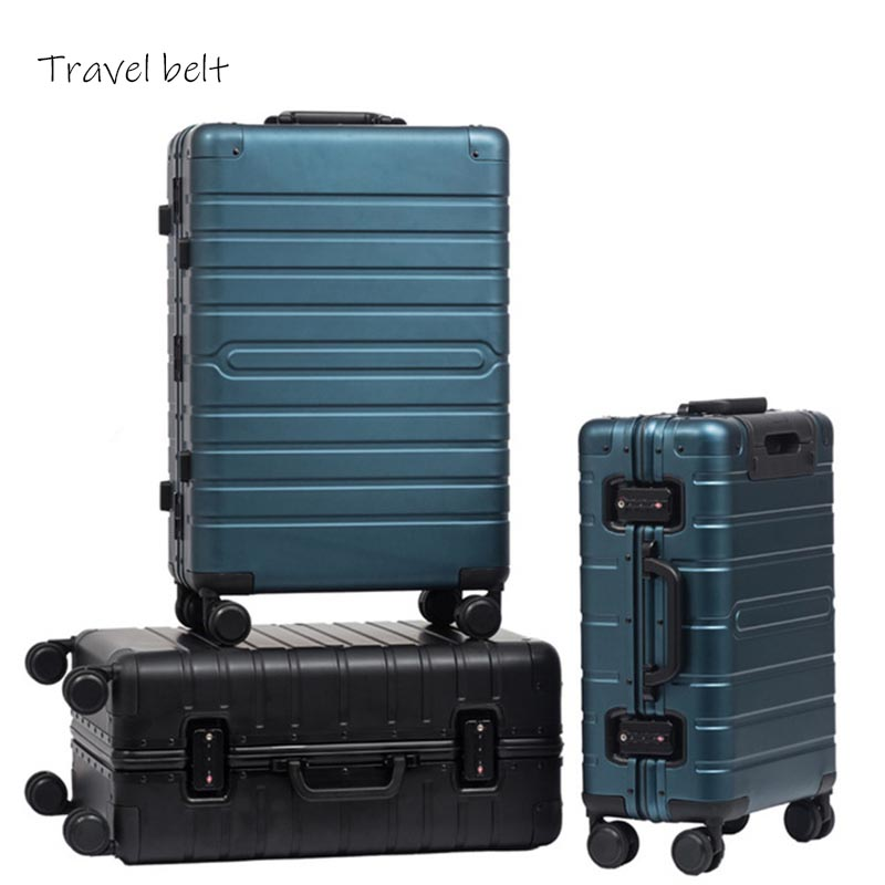 XM high quality 100% Aluminum-magnesium alloy20/24/29 inch size high quality Rolling Luggage Spinner Brand Suitcase XM high quality 100% Aluminum-magnesium alloy20/24/29 inch size high quality Rolling Luggage Spinner Brand Suitcase