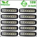 10 pcs  Free Shipping 6 Inch Spot Flood single row 18W 4x4 truck LED work Light Bar 12 volt
