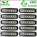 10 pcs Frete Grátis 6 Polegada Mancha de Inundação única linha 18 W 4x4 LED truck trabalho Light Bar 12 volts
