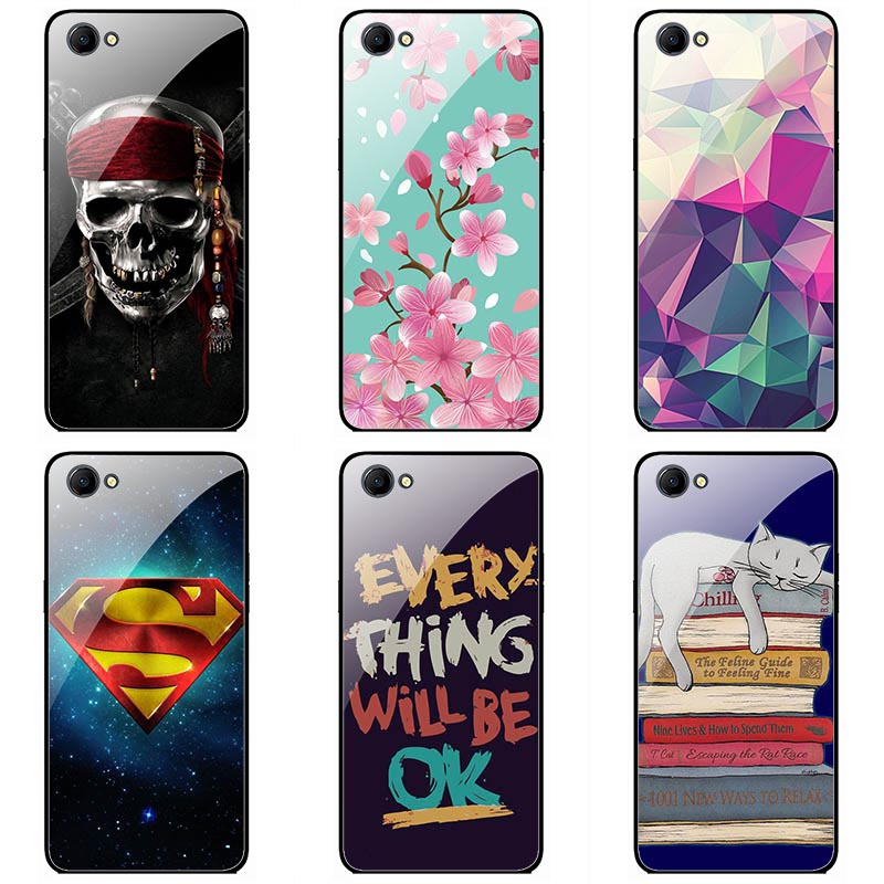 For <font><b>OPPO</b></font> <font><b>A3</b></font> Tempered <font><b>Glass</b></font> <font><b>cases</b></font> fashion style Tempered <font><b>Glass</b></font> cellPhone <font><b>Case</b></font> Cover Floral colorful painting skin shell image