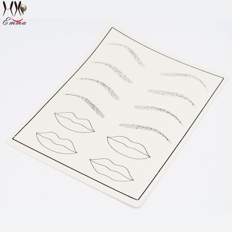 Vente en gros - 5pcs / lot Tattoo Eyebrow Lip Practice Skin Design - Tatouages et art corporel - Photo 2