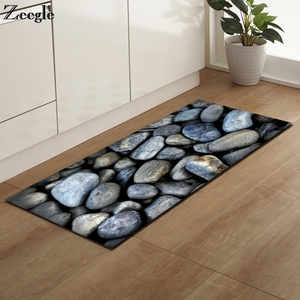 Image 2 - Zeegle Kitchen Floor Mat Non slip Carpets Table Floor Mats Absorbent Kitchen Rugs Soft Rug 3D Printed
