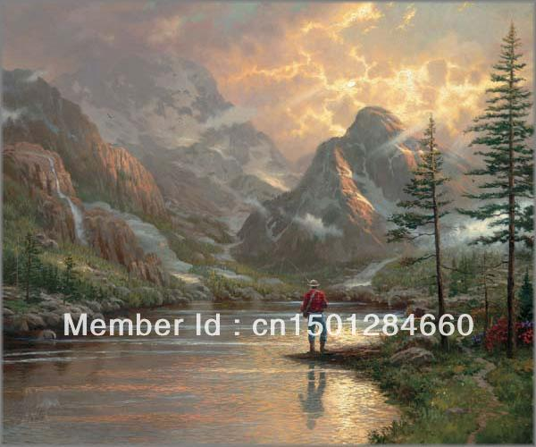 high quality print no frame Almost Heaven by Thomas Kinkade huge oil painting on canvas