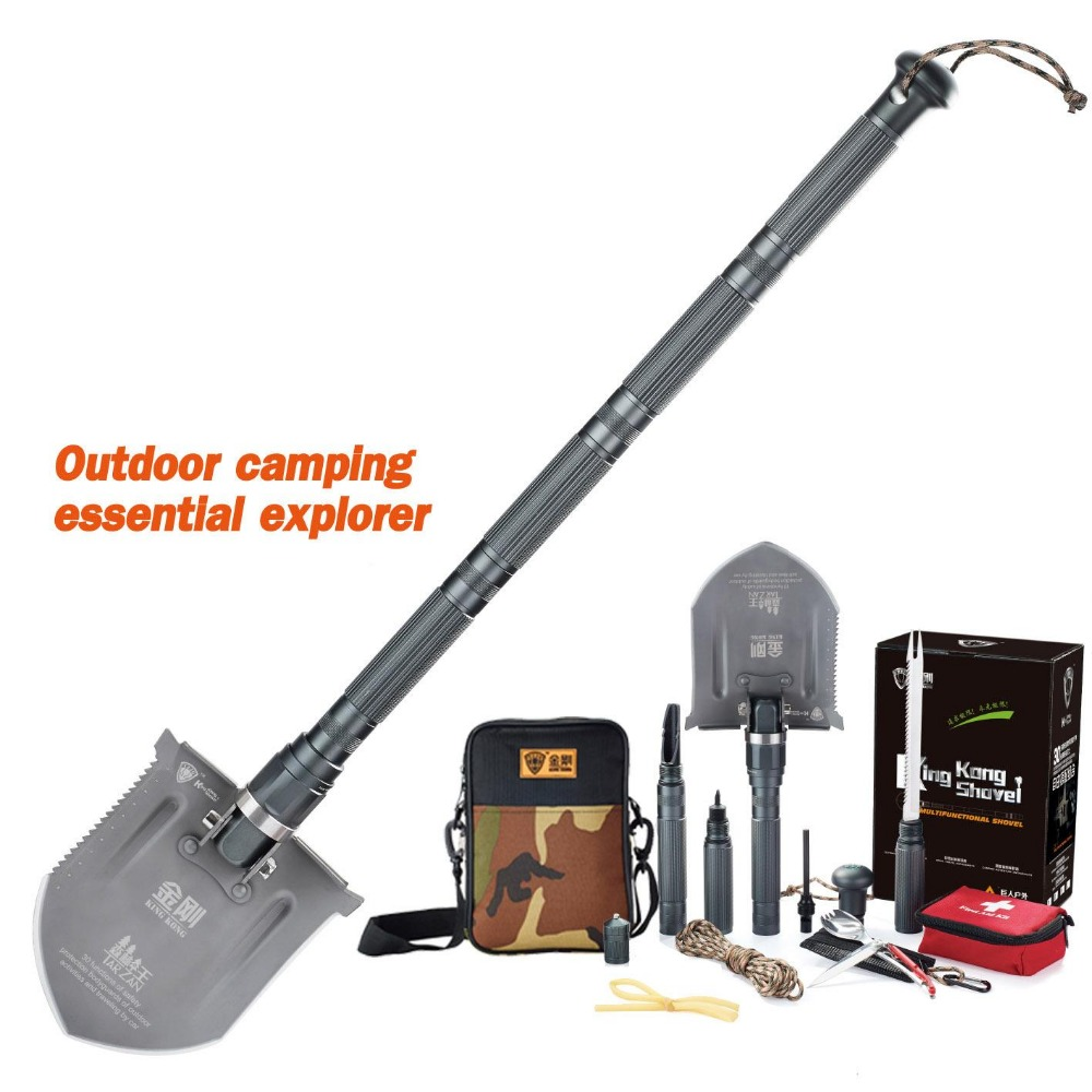2018 NEW Forest King Multifunction fold 304 stainless steel Camping shovel Outdoor Emergency Tool shovel