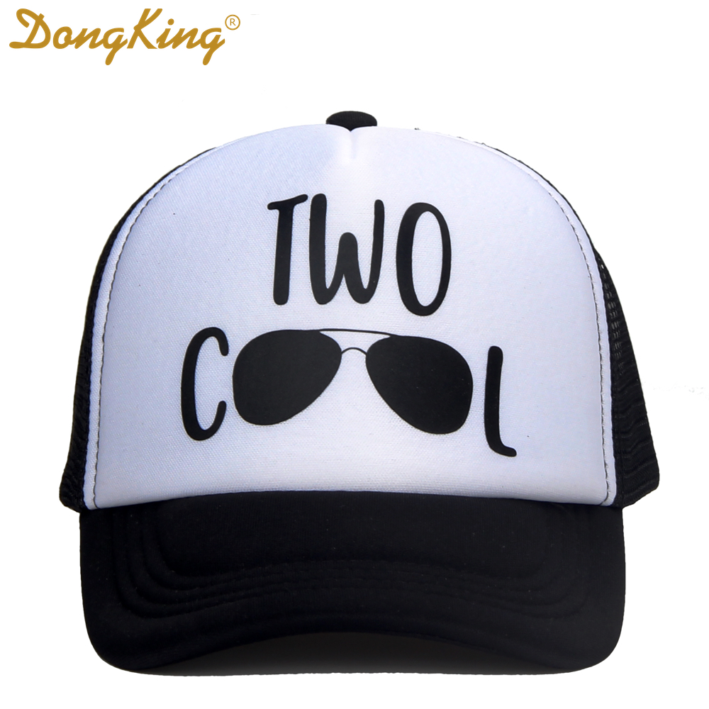 DongKing Kids Birthday Trucker Hat Two Cool Baby Trucker Caps Cool Hats 2 Years Old Baby Gift Boy Girls Birthday Gifts