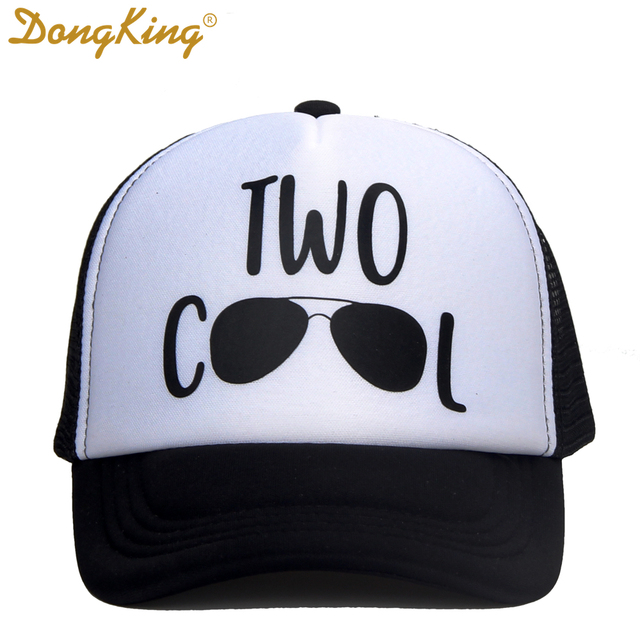 DongKing Kids Birthday Trucker Hat Two Cool Baby Caps Hats 2 Years Old Gift Boy Girls Gifts