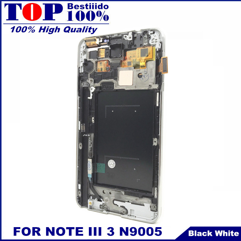 Frame Digitizer Replacement Assembly-Control Touch-Screen Lcd-Display Note3 N9005 Samsung Galaxy