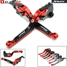 WITH LOGO XMAX MOTORCYCLE ALUMINUM ADJUSTABLE BRAKE CLUTCH LEVERS FOR YAMAHA X MAX X-MAX 250 MAX400 HANDLE BAR ACCESSORIES