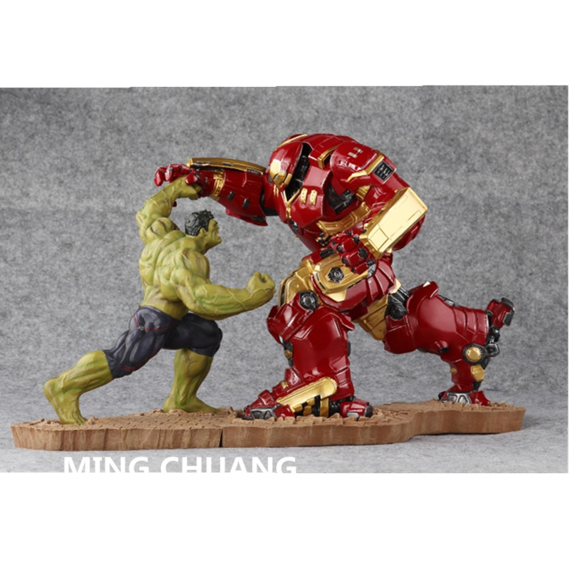 2Pcs/set Avengers infinity war Statue Hulk Iron Man MK44 Hulkbuster GK Bust 1:10 Full-length Portrait Resin Action Figure Toy statue avengers superhero hulk 1 4 bust robert bruce banner full length portrait resin imitation iron collectible model toy w236