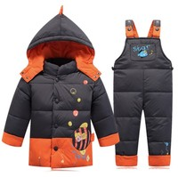 2016 Winter Children Clothing Set Kids Ski Suit Overalls For Baby Girls Boys Warm Snowsuits Jackets