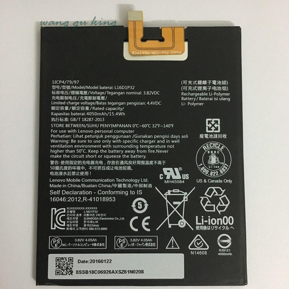 3.8 V 4050 mAh L16D1P32 Pour Lenovo LePad Batterie batterie de rechange
