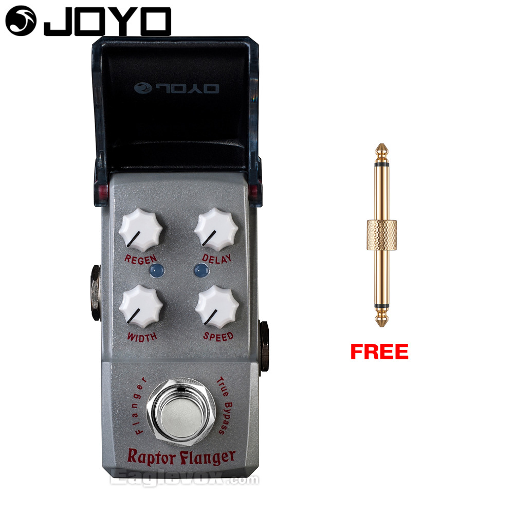 Joyo Ironman Raptor Flange Modulation Guitar Effect Pedal True Bypass JF-327 with Free Connector mooer mod factory modulation guitar effects pedal true bypass with free connector and footswitch topper