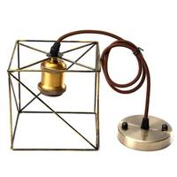 Iron Edison Vintage Retro Hanging Ceiling Light Fitting Lamp Bulb Guard Wire Cage Lamp Cover Bar
