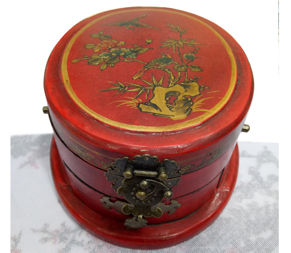 collected in China wedding jewelry box cosmetic box wooden flower and bird pattern boxcollected in China wedding jewelry box cosmetic box wooden flower and bird pattern box
