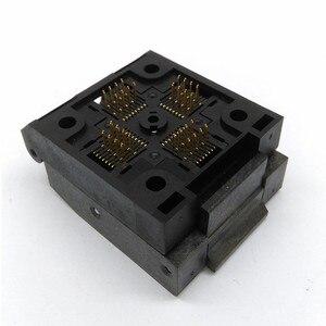 Image 4 - QFP32 TQFP32 LQFP32 раскладушка штырьковый шаг 0,8 мм сгорание в розетке стандартная тестовая розетка программатор адаптер конверсионный блок