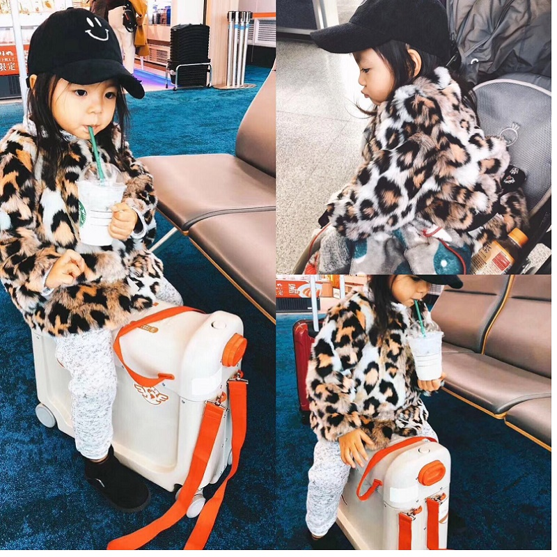 Can Ride Can Sit High Quality Suitable For Children Multifunction PC Rolling Luggage Spinner Brand Travel Suitcase