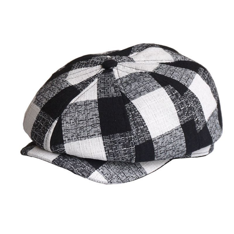 Beckyruiwu Octagonal-Hat Beret-Caps Linen Adult Male Cotton Summer Lady And Men 56-59cm